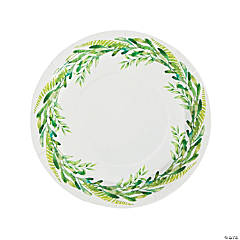 Spring Greenery Paper Dinner Plates