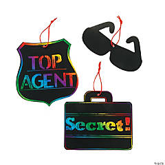 Spy Agents of Truth VBS Magic Color Scratch Ornaments