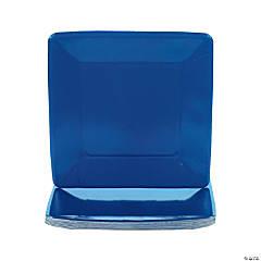 Square Dinner Plates - Navy Blue