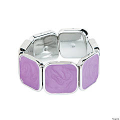 Square Milky Purple Bracelet Craft Kit