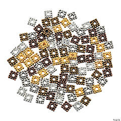 Square Spacer Bead Assortment - 5mm