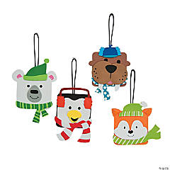 Square Winter Character Ornament Craft Kit