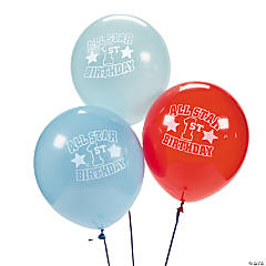 "1st Birthday ""All Star"" Latex Balloons"