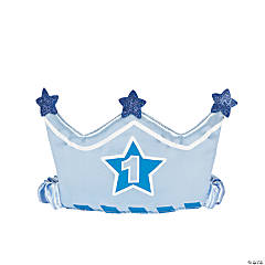 1st Birthday Boy Crown Headband