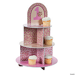 1st Birthday Cheetah Cupcake Holder