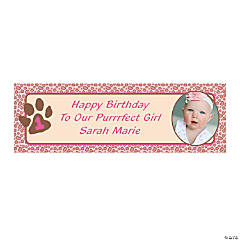 1st Birthday Cheetah Custom Photo Banners