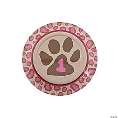 1st Birthday Cheetah Dessert Plates