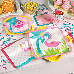 1st Birthday Flamingo Party Supplies