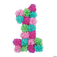 1st Birthday Girl Tissue Wall Decoration