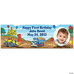 1st Birthday I Dig Being 1 Small Custom Photo Banner