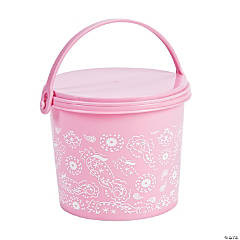 1st Birthday Pink Cowgirl Pails