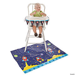 1st Birthday Rocket High Chair Set