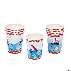 1st Birthday Sailor Cups