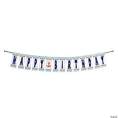 "1st Birthday Sailor ""Happy Birthday"" Jointed Banner"