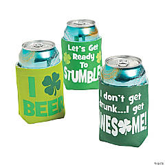 St. Patrick's Day Can Coolers