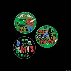 St. Patrick's Day Light-Up Sticker Badges