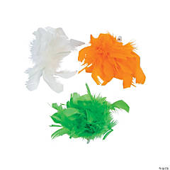 St. Patrick's Marabou Hair Clips