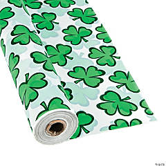 St. Patrick's Plastic Tablecloth Roll