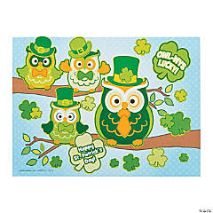 St. Patrick's Day Owl Mini Sticker Scenes
