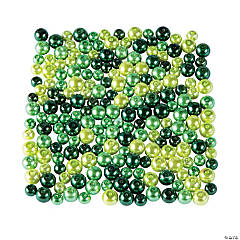 St. Patrick's Day Green Pearl Bead Assortment 6mm - 8mm