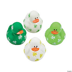 St. Patrick's Day Mini Shamrock Rubber Duckies
