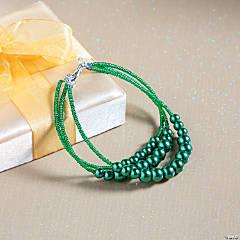 St. Patrick's Day Pearl Bracelet Idea