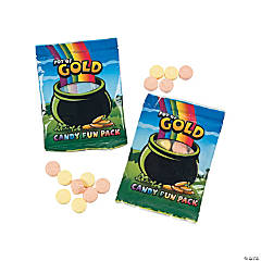 St. Patrick's Day Pot of Gold Hard Candy Fun Packs