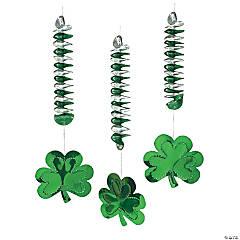 St. Patrick's Day Shamrock Dangling Spirals