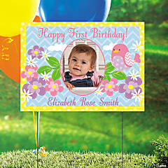 1st Tweet Custom Photo Yard Sign