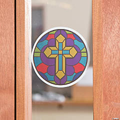 Stained Glass Cross Window Clings