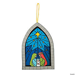 Stained Glass Window Nativity Sign Craft Kit