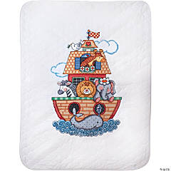 Stamped Quilt Cross Stitch Kit-Noah Ark