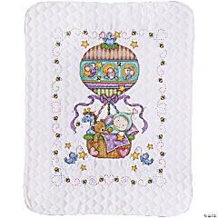 Stamped Quilt Xstitch Kit-Balloon Ride