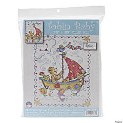 Stamped Quilt Xstitch Kit-Sail Away