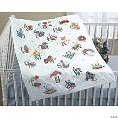 Stamped Xstitch Baby Quilt-Alphabetdream