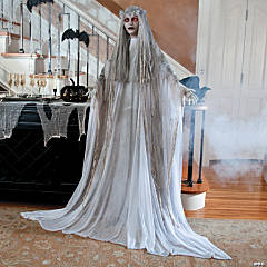 standing ghost girl - Scary Decorations