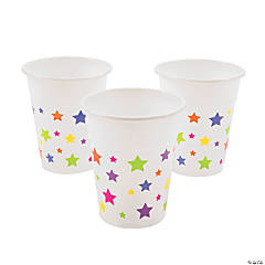Star Print Disposable Cups