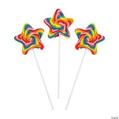 Star-Shaped Swirl Lollipops