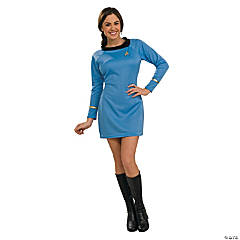 Star Trek Uniform Classic Blue Dress Costume for Women