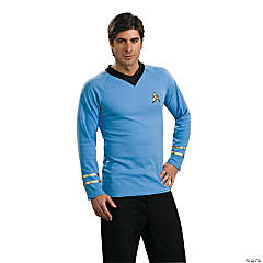 Star Trek Uniform Classic Blue Shirt Costume for Men