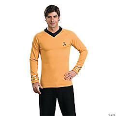 Star Trek Uniform Classic Gold Shirt Costume for Men