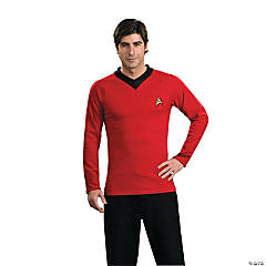 Star Trek Uniform Classic Red Shirt Costume for Men