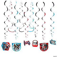 Star Wars Rebels™ Hanging Swirl Decorations Value Pack
