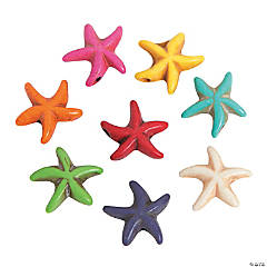 Starfish Stone Beads - 15mm