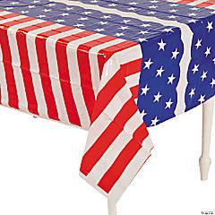 Stars & Stripes Plastic Tablecloth