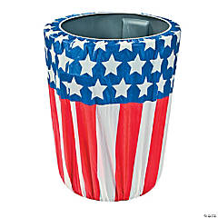 Stars & Stripes Plastic Trash Can Cover