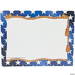 Stars Border Certificate, 50 per Pack, 6 Packs