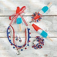 Statement Patriotic Necklace Idea