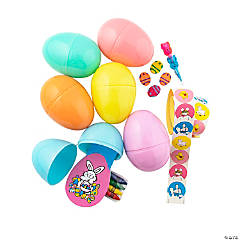 Stationery-Filled Jumbo Pastel Plastic Easter Eggs - 24 Pc.