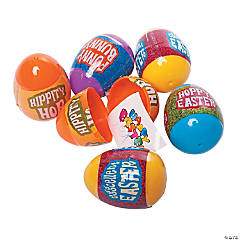 Sticker-Filled Plastic Easter Eggs